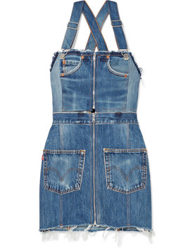 + Levi's Two Tone Distressed Denim Mini Dress by Re/Done