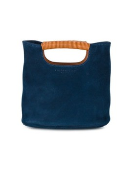 Navy Birch Mini Suede Tote Bag by Simon Miller