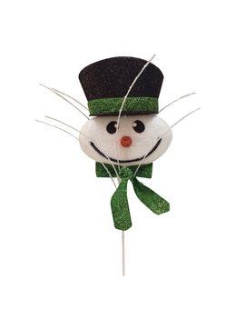 Darice® Glitter Snowman Head Pick by Darice