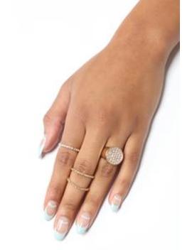 Clustered Together Ring Set   Gold by Fashion Nova