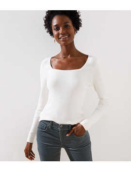 Square Neck Sweater by Loft