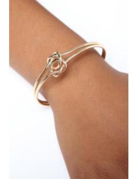 Knotty Place Cuff   Gold by Fashion Nova