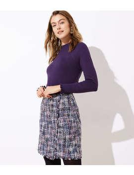Tweed Wrap Skirt by Loft