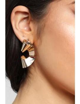 Bend The Rules Earrings   Gold by Fashion Nova