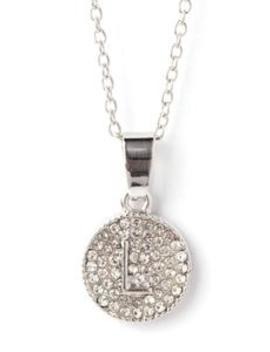 Chic And Unique 'l' Necklace   Silver by Fashion Nova