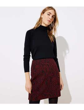 Paisley Jacquard Shift Skirt by Loft