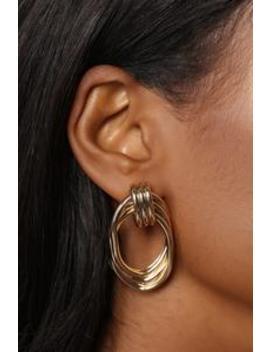 So Knot Into You Earrings   Gold by Fashion Nova