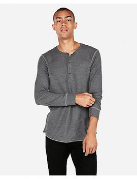 Textured Waffle Henley by Express