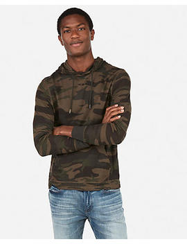 Camo Waffle Hoodie by Express