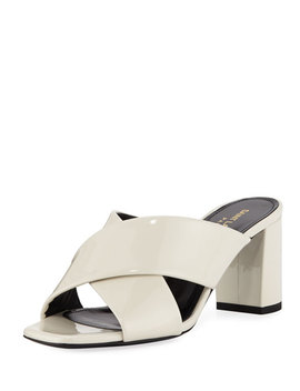 Lou Lou Crisscross Sandals by Saint Laurent