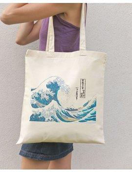 Kanagawa Great Wave Tote Bag Kanagawa Tote The Great Wave Cotton Tote Bag Hokusai Tote Bag Japanese Style Tote Bag Natura Picta by Etsy