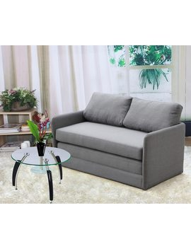 Clay Alder Home Claiborne Reversible 5.1 Inches Foam Fabric Loveseat And Sofa Bed by Clay Alder Home