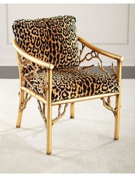 Leopard Branch Chair by John Richard Collection