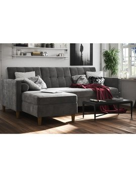 Dhp Hartford Chenille Storage Sectional Futon by Dhp