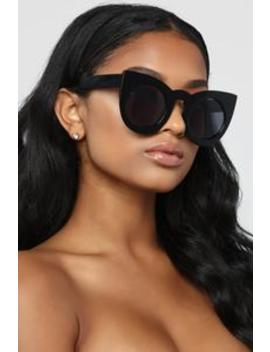 Why So Catty Sunglasses   Black by Fashion Nova