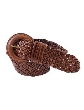 Accessories Wide Braided Leather Belt by Fashion Focus