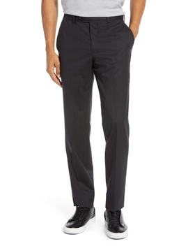 Trim Fit Flat Front Stretch Wool Pants by Nordstrom Men's Shop