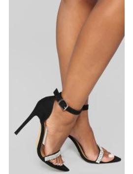 Temptress Heeled Sandal   Black by Fashion Nova