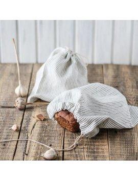 Linen Bread Bags Set Of 2, Striped Lingerie Bag, Linen Nuts Storage, Fabric Bread Keeper, Farm Market Produce Bag, Zero Waste by Etsy