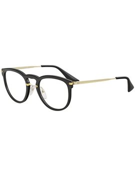 Prada Women's Eyeglasses Vpr02 V Vpr/02 V 1 Ab/1 O1 Black/Gold Optical Frame 51mm by Prada