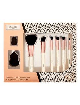 ($70 Value) Primrose Hill Cosmetic Contour Brush & Blending Sponge Set, Rose Gold Dot by Primrose Hill