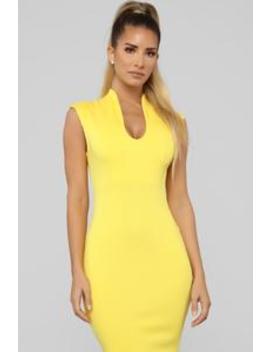 Gabriella Midi Dress   Yellow by Fashion Nova