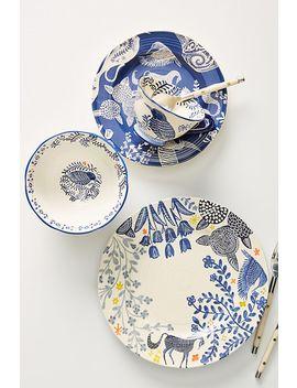 Saga Dinner Plates, Set Of 4 by Anthropologie