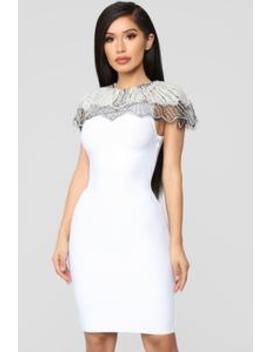 Essence Of Glamour Mini Dress   White by Fashion Nova