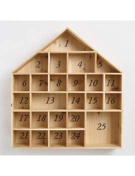 Wood Christmas Advent Calendar House by World Market