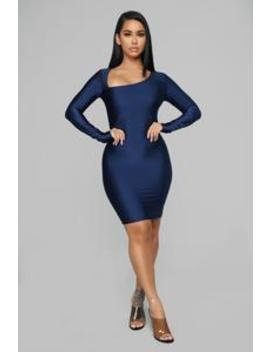 Get Me Bodied Mini Dress   Navy by Fashion Nova