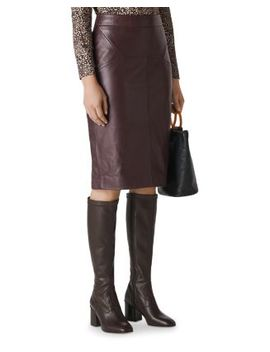 Kel Leather Skirt by Whistles