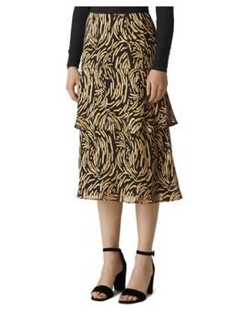 Reed Tiered Burnout Skirt by Whistles