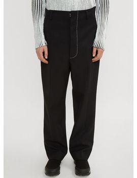 Tailored Side Zip Pants In Black by Maison Margiela