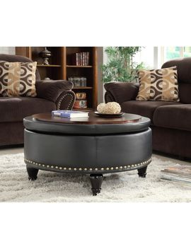 Osp Home Furnishings Gracewood Hollow Belamri Round Storage Ottoman by Osp Home Furnishings