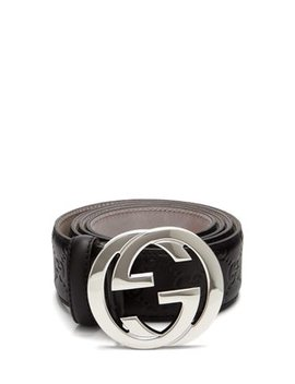 Signature Gg Logo Leather Belt by Gucci