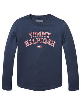Tommy Hilfiger Boys' Essential T Shirt, Blue by Tommy Hilfiger