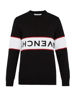 Inverted Logo Intarsia Knit Sweater by Givenchy