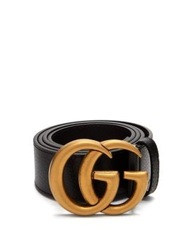 Gg Textured Leather Belt by Gucci