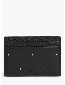 All Saints Kathi Leather Card Case, Black by All Saints