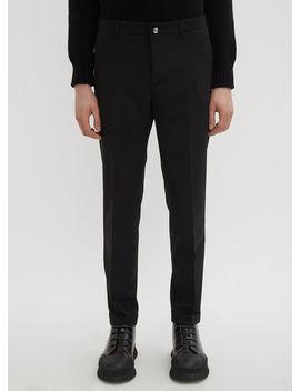 Slim Zip Pants In Black by Prada