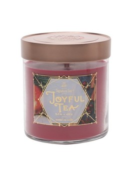15.2oz Lidded Glass Jar Candle Joyful Tea   Signature Soy by Signature Soy