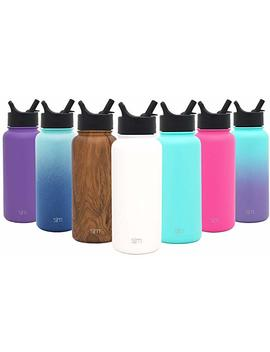 Simple Modern Summit Water Bottle With Straw Lid   Wide Mouth Vacuum Insulated 18/8 Stainless Steel Powder Coated by Simple Modern