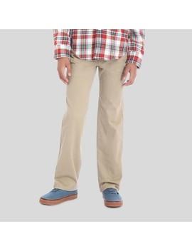 Wrangler® Boys' 5pkt Straight Fit Chino Pants   Beige by Wrangler