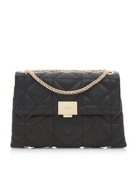 Dune   Black 'evangelina' Quilted Shoulder Bag by Dune