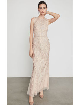 Sleeveless Lace Applique Gown by Bcbgmaxazria