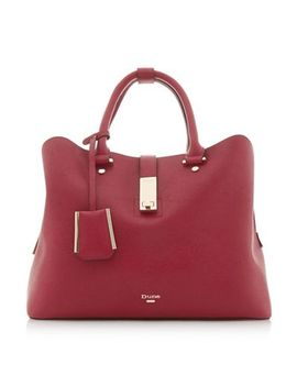 Dune   Red 'diella' Circle Handler Shopper Bag by Dune