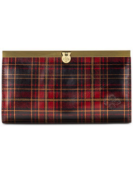 Cauchy Tartan Plaid Leather Wallet by Patricia Nash
