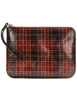 Cassini Tartan Plaid Leather Wristlet by Patricia Nash