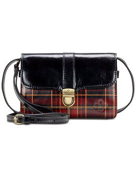 Tartan Plaid Bianco Leather Crossbody by Patricia Nash