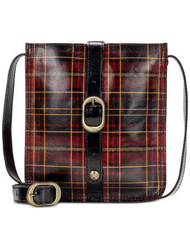 Venezia Tartan Plaid Leather Crossbody by Patricia Nash